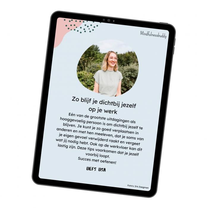 E-book: zo blijf je dichtbij jezelf op je werk - Mindfulnessbuddy